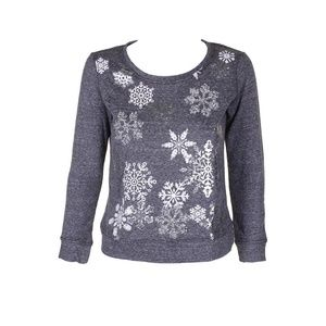 Style & Co Petit Grey Snowflake Graphic Sweatshirt